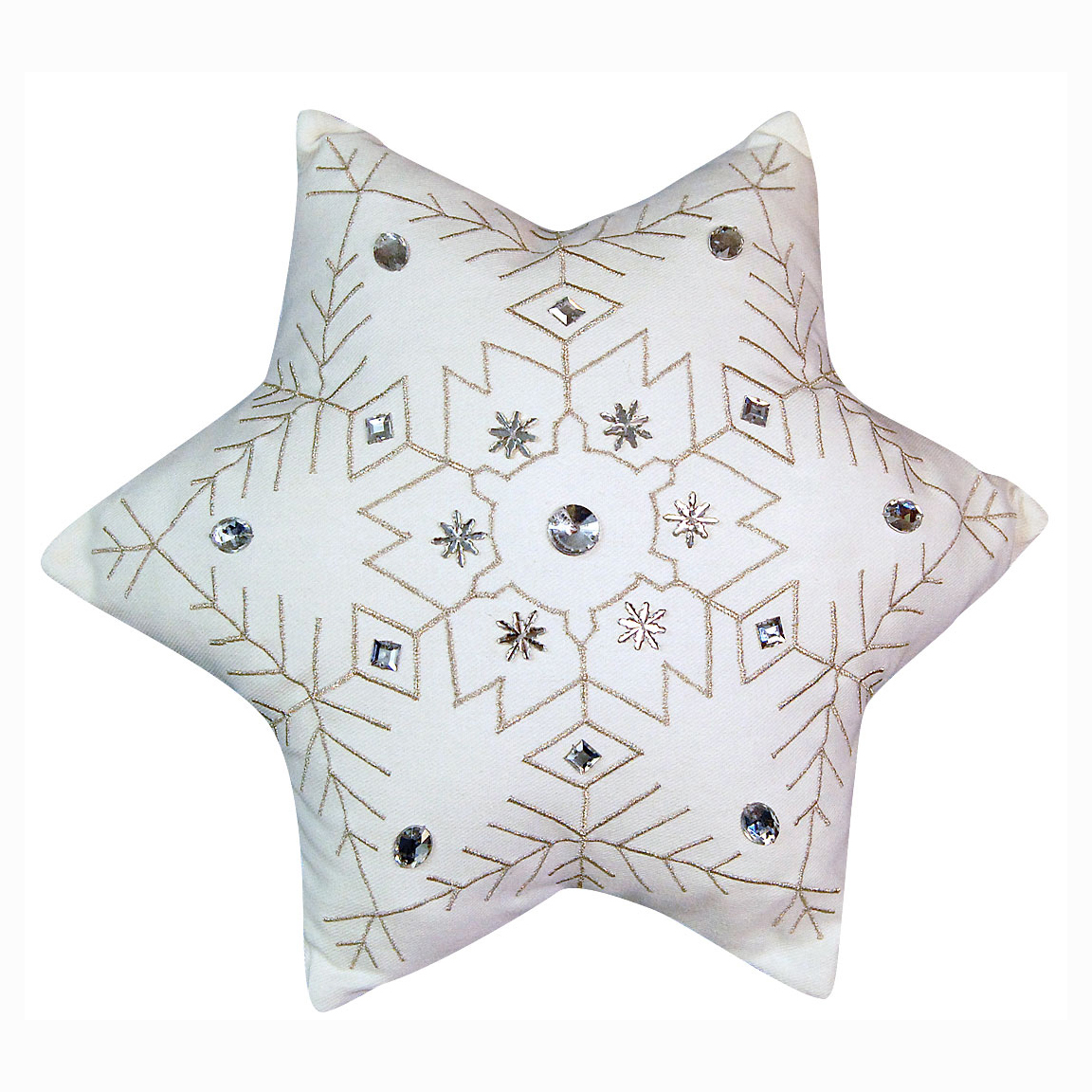 Snowflake Shaped Indoor Pillow Small 6 Points Rightside Design Studio